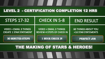 the making of stars and heroes, certification level 2