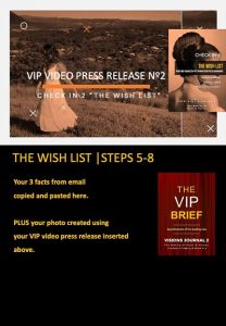 stars and heroes, profiling of character, vip report, the wish list