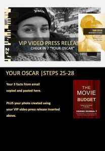 stars and heroes, profiling of character, vip report, your oscar