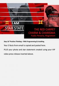 stars and heroes, profiling of character, vip report, step 18