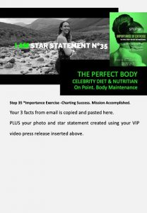 stars and heroes, profiling of character, vip report, step 35